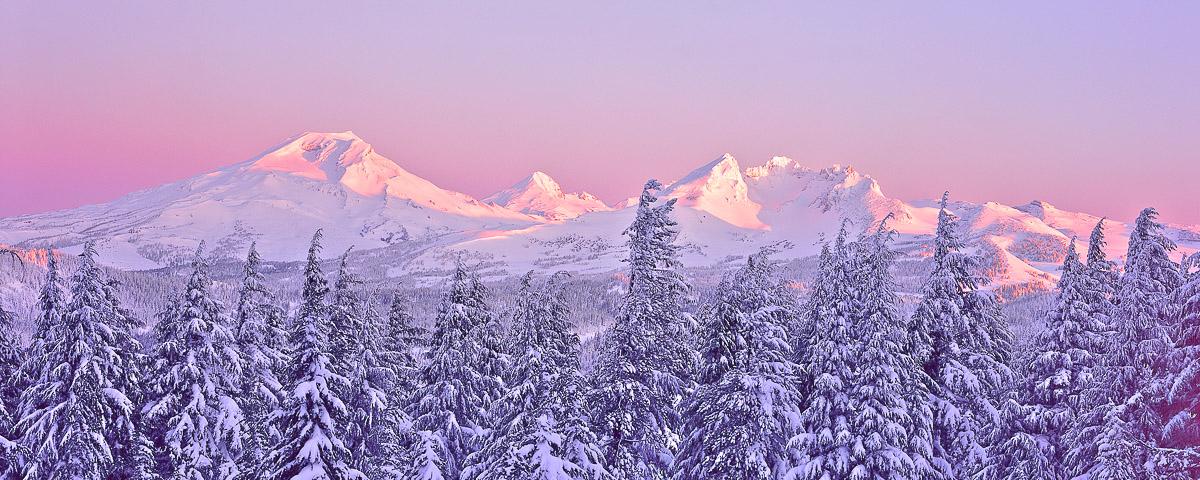 Oregon Cascades Panorama Fine Art Print winter photo