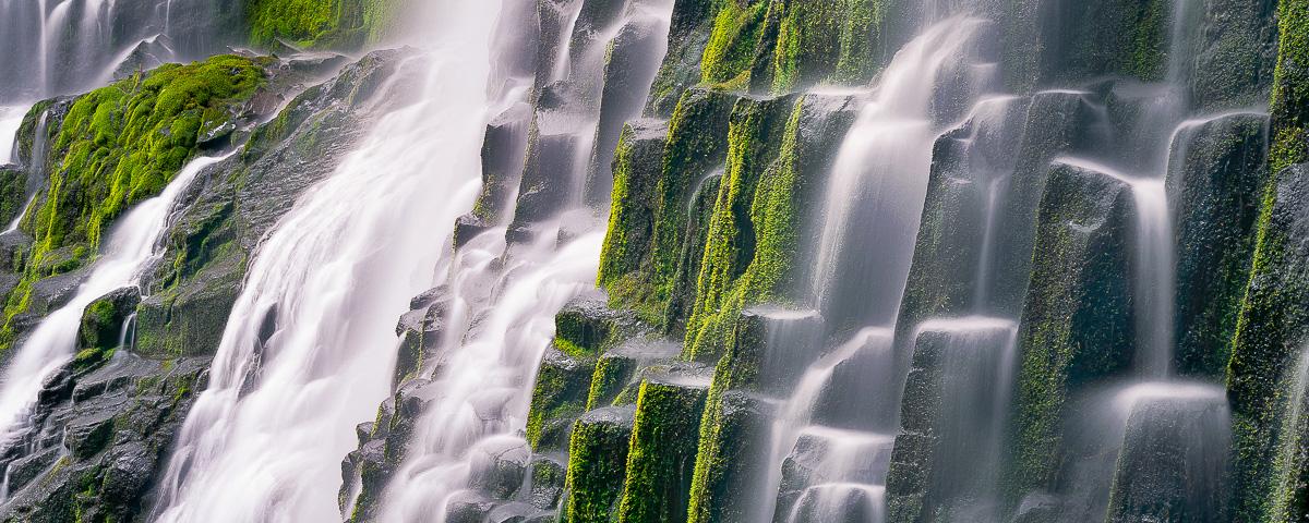 Proxy Falls Panorama, Three Sisters Wilderness Area
