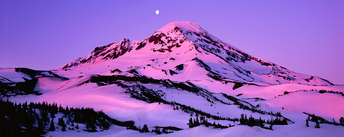 South Sister Panorama Fine Art Print, Three Sisters Wilderness Area