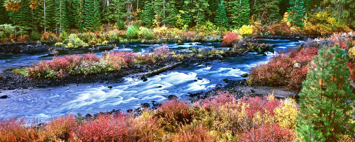 Deschutes River Trail, panorama photo, fine art print, Oregon Landscape Photographer