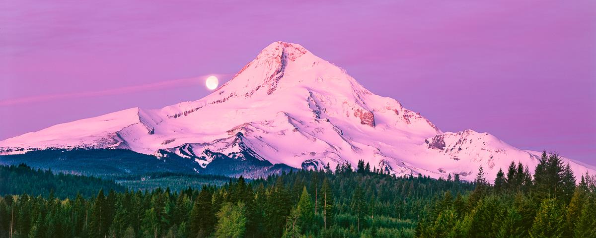 Mt Hood Panorama Fine Art Print, landscape photo,Oregon