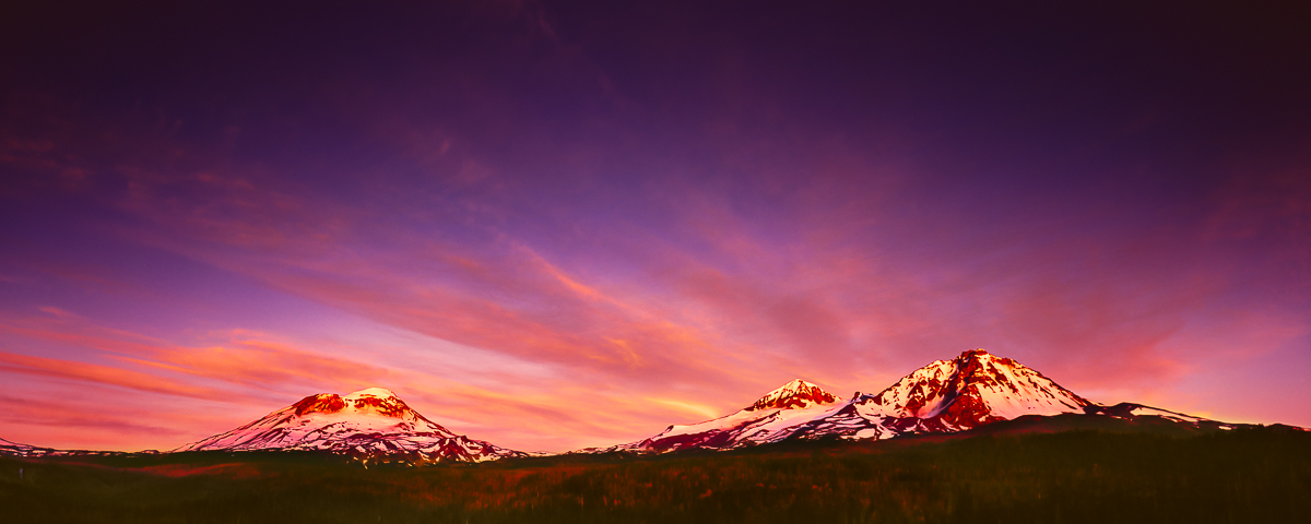 Morning Glory Panorama, Three Sisters Sunrise fine art print