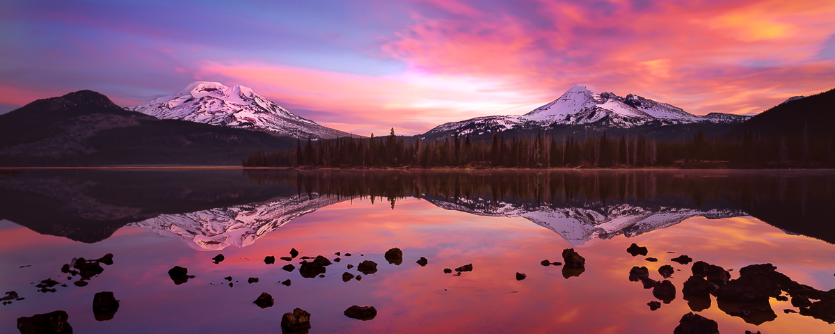 Sparks Lake Panorama Fine Art Print