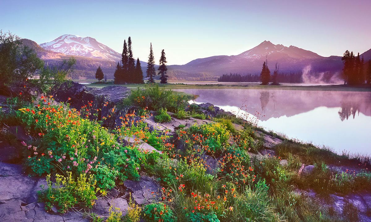 Sparks Lake Garden,Cascade Lakes , Bend Oregon, South Sister,Broken Top