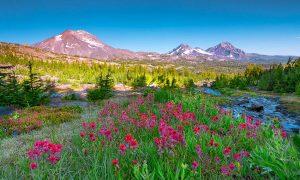 Oregon's Three Sisters Mountains,photo,print,fine art,