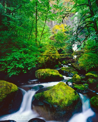Elowah Falls photo, McCord Creek, fine art print, landscape photo