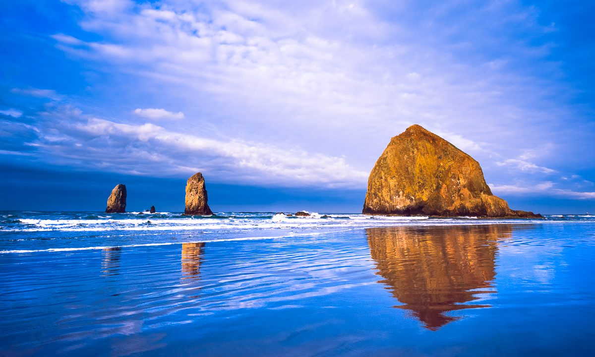 Cannon Beach landscape photo, Haystack Rock,fine art print