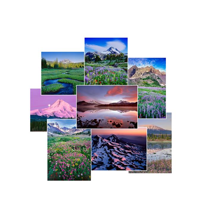 Oregon Mountains Greeting Cards