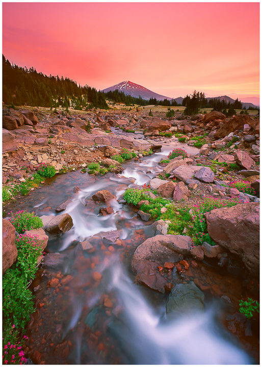 Mt Bachelor in Summer. Greeting Card