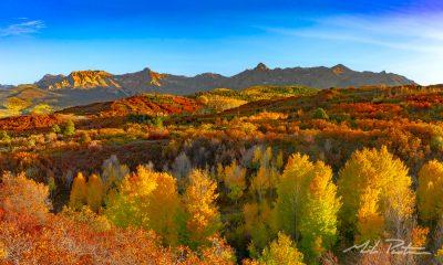 San Juan Mountains,Rocky Mountains, Colorado,fall color,Dallas Divide,Telluride