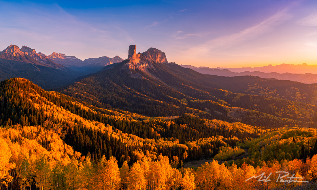 San Juan Mountains,Rocky Mountains,autumn,fall,Aspen Groves,True Grit,Chimney Peak,Courthouse