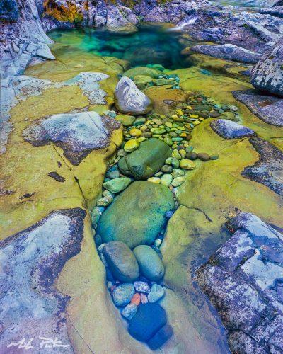 Zen Pool,North Santiam River,Three Pools Recreation area,Willamette National Forest,fine art print, landscape photograph, photo for sale