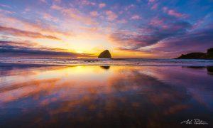 Pacific City Sunset,landscape photos,Cape Kiwanda,phhotographer,Oregon Coast,Haystack Rock,Beach,fine art photos,fine art prints,Fine art landscape photographer,Mike Putnam