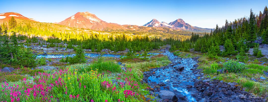 Three Sisters Panorama, fine art print, Oregon landscape photo