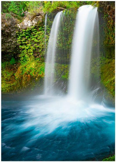 Koosah Falls Greeting Card McKenzie River